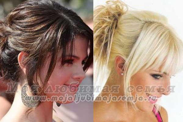 Красивые чёлки фото на длинные волосы