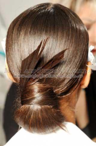 Легкие прически для длинных волос.