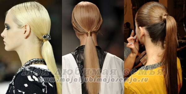 прическа конский хвост для длинных волос