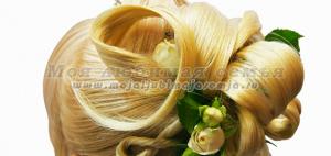 Прическа бант из волос фото.