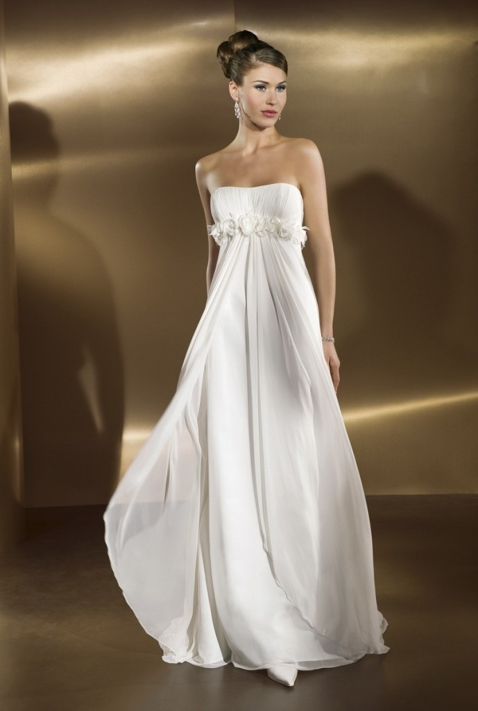 Свадебное платье ампир-689x1024