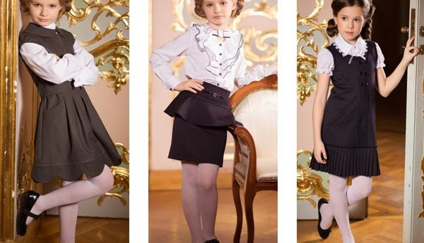 Модная школьная форма для девочек в 2017 году.